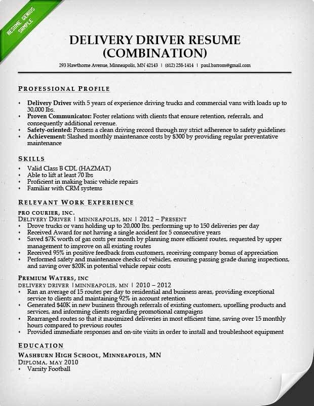 Truck Driver Resume Sample and Tips | Resume Genius