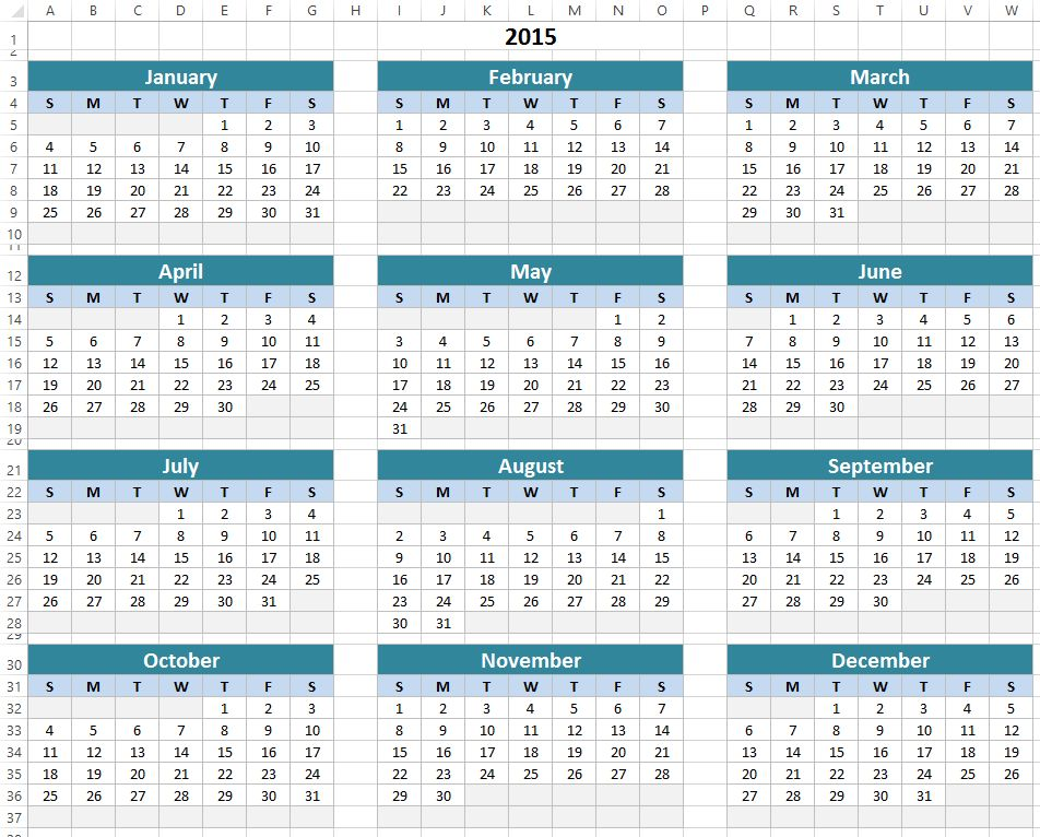 Free Excel Calendar Template Download - ExcelSuperSite