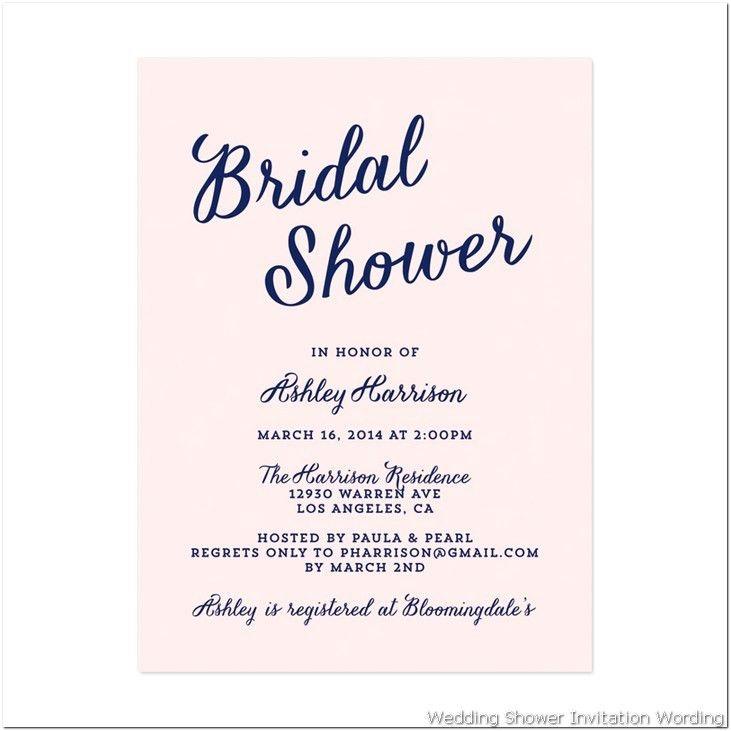 Bridal Shower Invitation Wording | Fotolip.com Rich image and ...