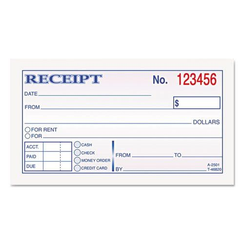 TOP46820 - TOPS® Money and Rent Receipt Books, 2-3/4 x 4 7/8, 2 ...