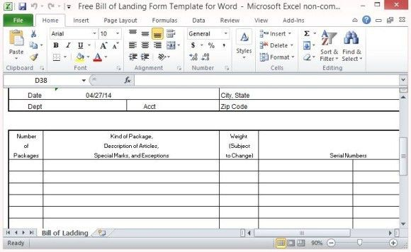 5 Free Bill of Lading Templates - Excel PDF Formats