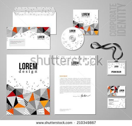 Corporate Identity Template Patch Work Colorful Stock Vector ...