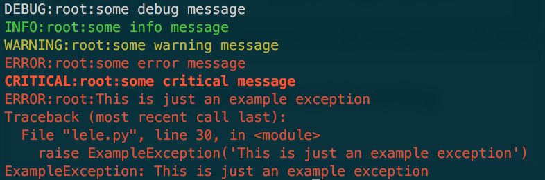 Quick Setup for Python logging