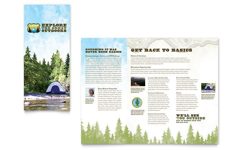 Nature Camping & Hiking Brochure Template - Word & Publisher