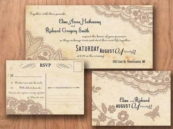 Vintage Wedding Invitation Templates - reduxsquad.Com