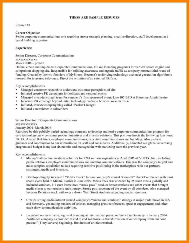 4+ job resume objective examples | character refence
