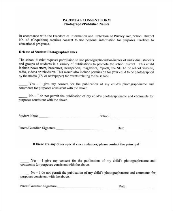 """Parent Release Form. A """"Play Date"""" Release Form For The Use Of ..."""