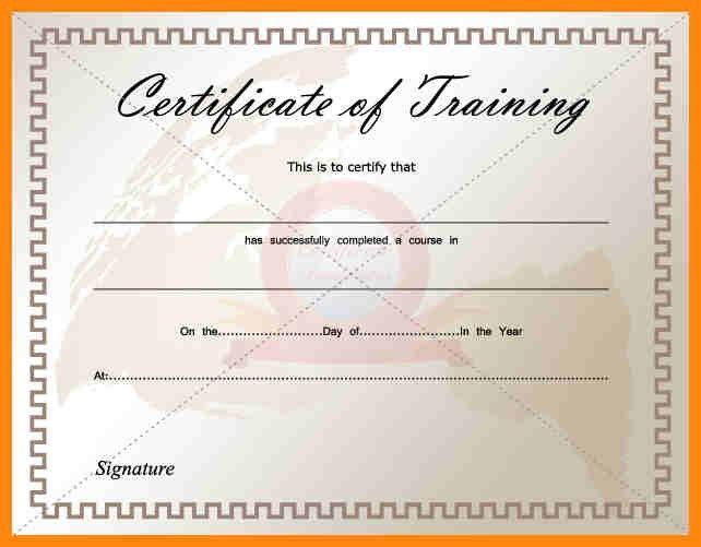 7+ training certificate template free | nurse resumed