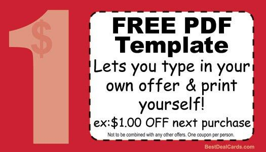 good for one coupon template