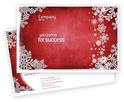 Christmas Theme Postcard Template in Microsoft Word, Adobe ...