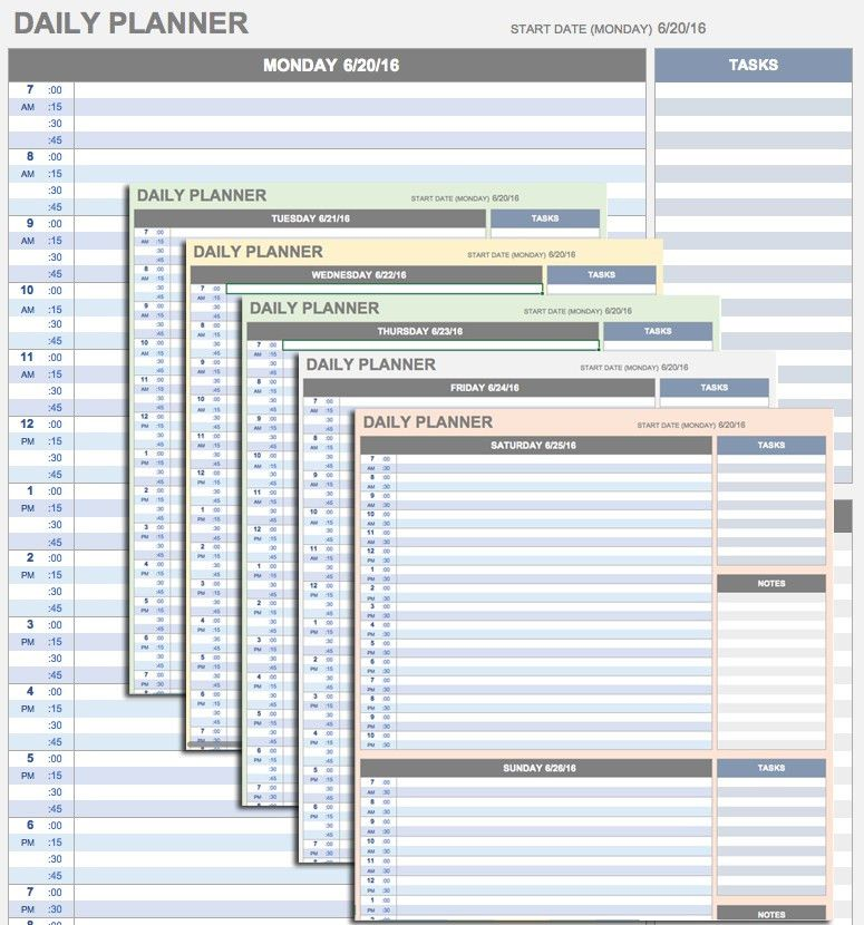 Hourly Schedule Template. Sample Printable Daily Schedule Template ...