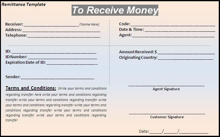 remittance form template