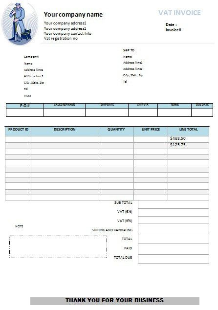 window cleaning invoice template | Free Cleaning Invoice Templates ...