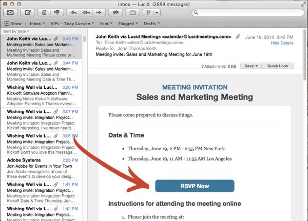 Meeting requests, invitations, and follow-up meeting email ...