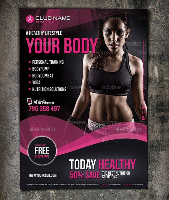 Fitness Flyer Template - 32+ Free PSD Format Download | Free ...