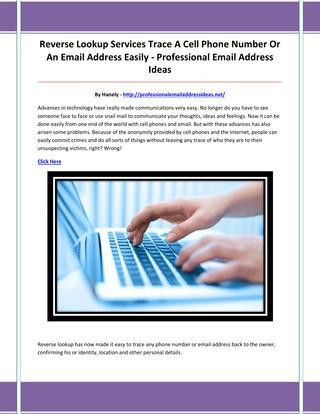 Professional email address ideas by fvcdxbhn - issuu