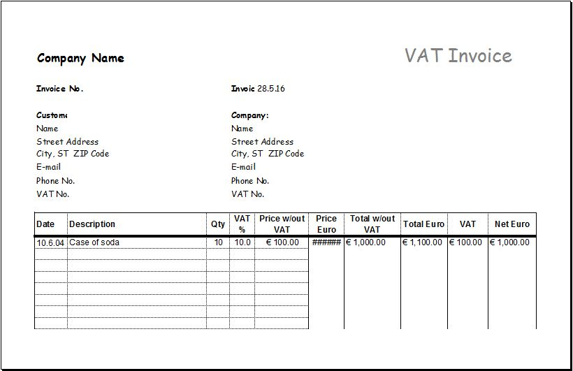 MS EXCEL Consignment Invoice Template | EXCEL INVOICE TEMPLATES