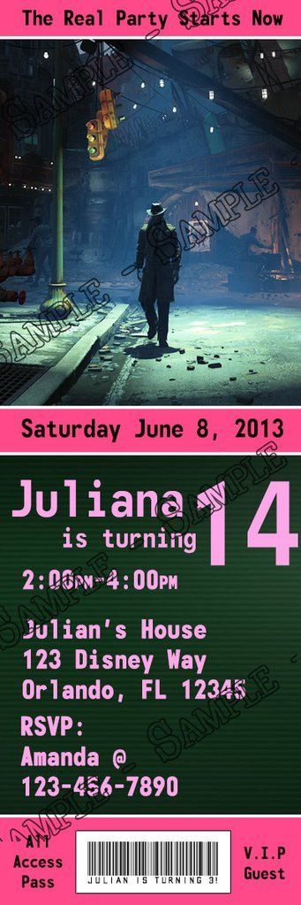 Novel Concept Designs - Fallout 4 Game Birthday Party Ticket ...