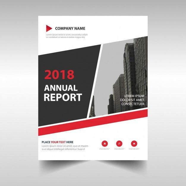 Abstract red professional annual report template Vector | Free ...