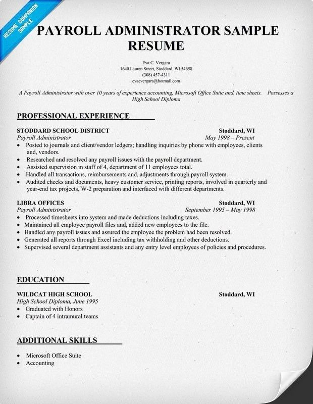 Payroll Officer Job Description. 638479: Payroll Administrator Job ...