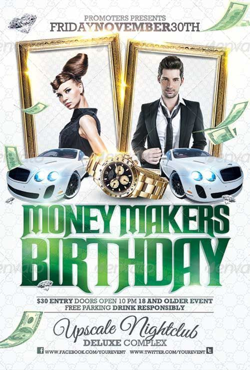 33 best 101 B-DAY BASH images on Pinterest | Flyer template, Flyer ...