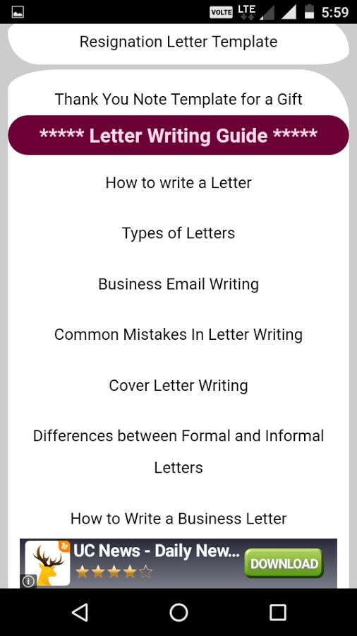 Letter Writing Guide - Android Apps on Google Play