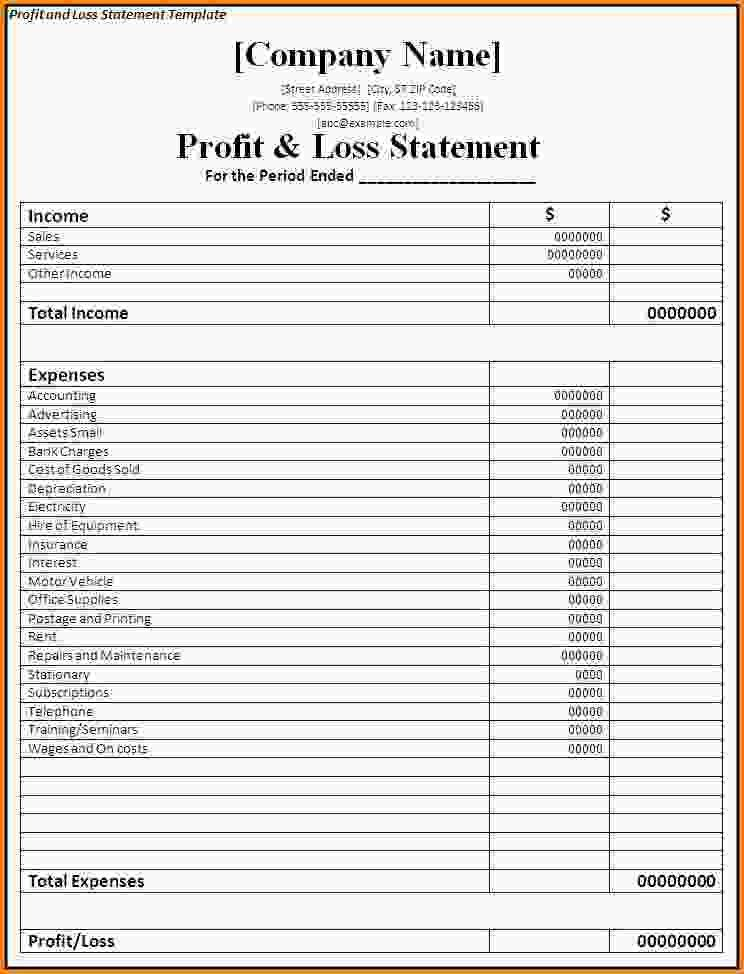 invoice templates free pl statement template 0 cnhDWF - Document ...