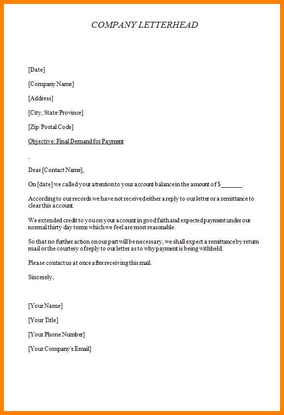 9+ demand letter sample | letter format for