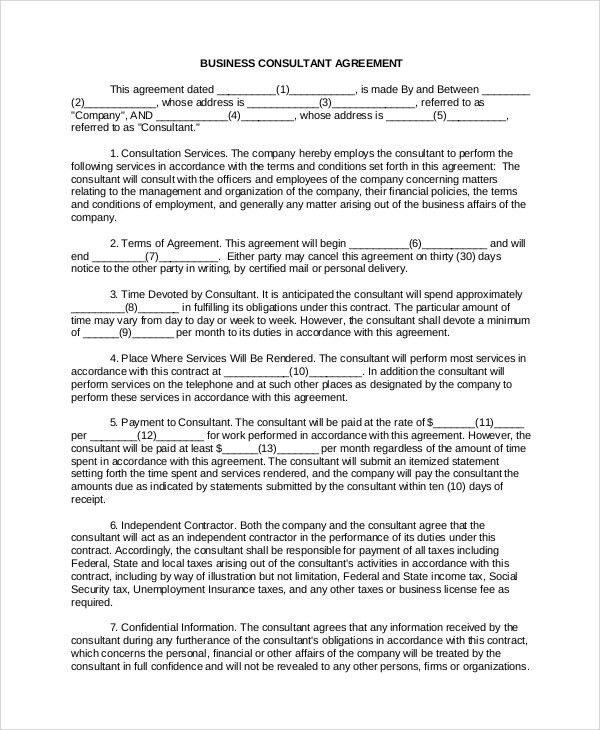 Business Contract. General Contract Agreement Template - Business ...