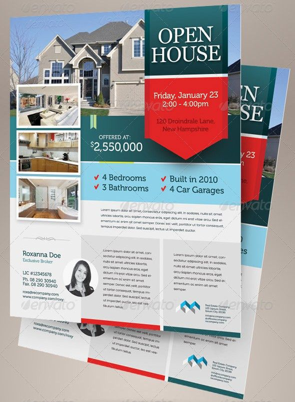 Open House Flyer Template – 30+ Free PSD Format Download   Free ...