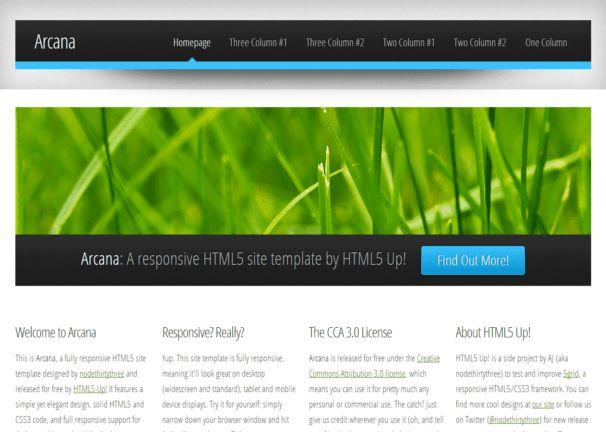 Arcana - Responsive Html5 Theme - Html5xCss3