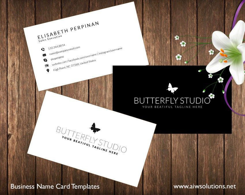 Premade Business Card Template, Name Card Template, Photography ...