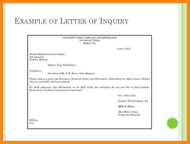 6+ letter of inquiry example | nurse resumed