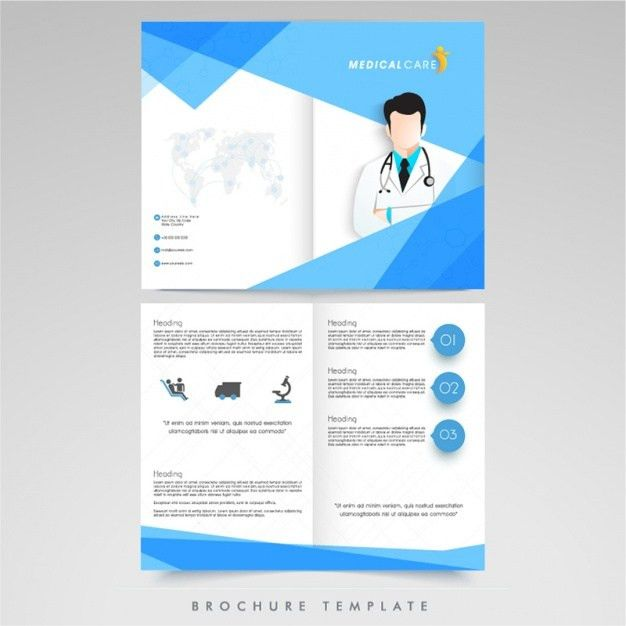 Medical brochure template Vector | Premium Download