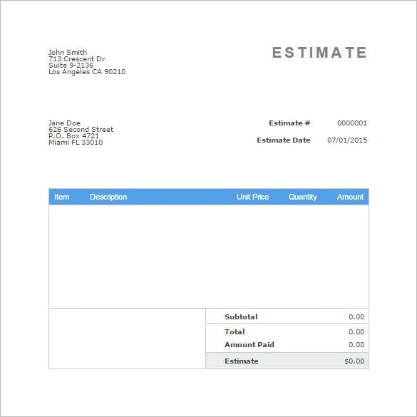Invoice Quote Template | free printable invoice