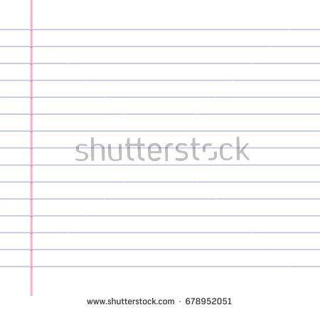 White Lined Paper Sheet Margin On Stock Vector 658367065 ...