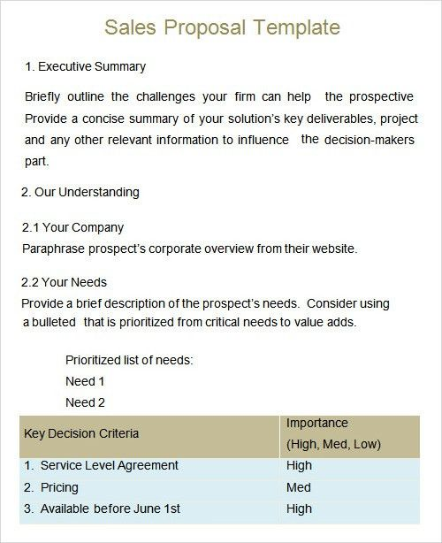 Proposal Template - 7+ Download Free Documents in PDF, Word