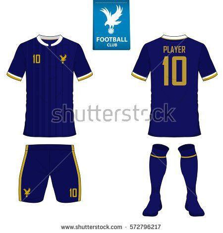 Set Soccer Kit Football Jersey Template Stock Vector 572796217 ...