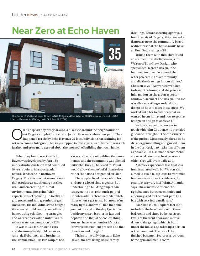 Better Builder Magazine Issue 20 Winter 2016