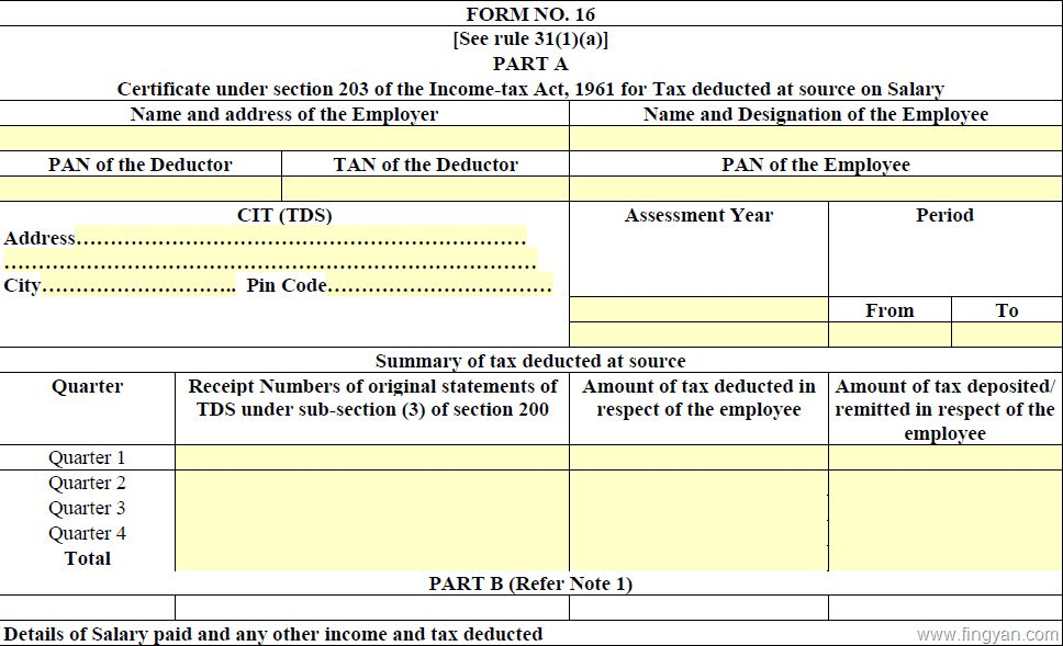 Purpose Of Form 16 Anf Form 16A, How Form 16 And 16A Helps In ...
