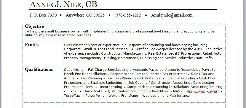 Download a free Bookkeeper Resume Sample in Word