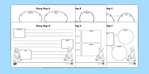 Story Map Activity Sheets Pack - story map, stories, worksheets