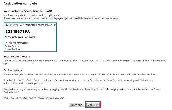 Register for a Centrelink online account - Online help ...