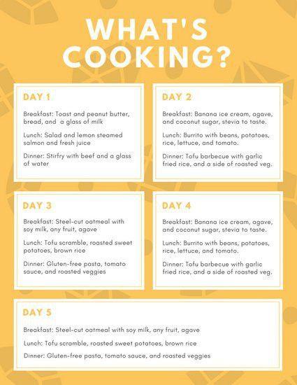 Lunch Menu Template, daycare menu template | bespoke-wellness.com ...