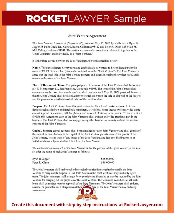 4+ international joint venture agreement template | Purchase ...
