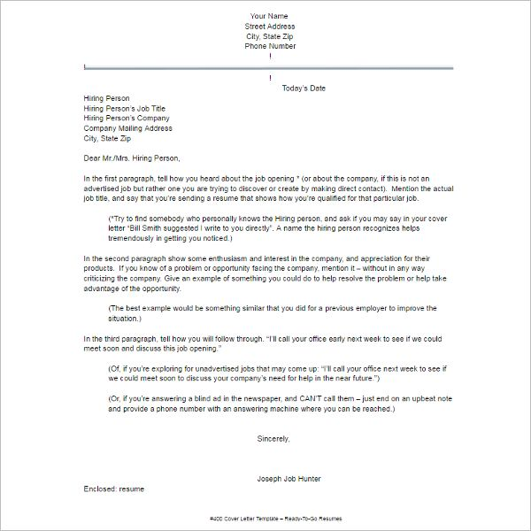Resume Example Templates - Free Word, PDF, Excel, Formats ...