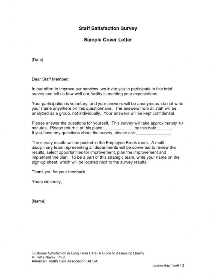 Customer Survey Cover Letter Sample | Docoments Ojazlink