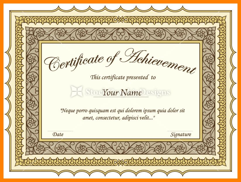 9+ certificate border psd | addressing letter