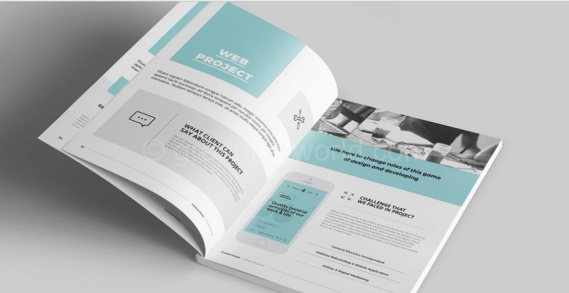 Download Clean and Professional Proposal Template Free