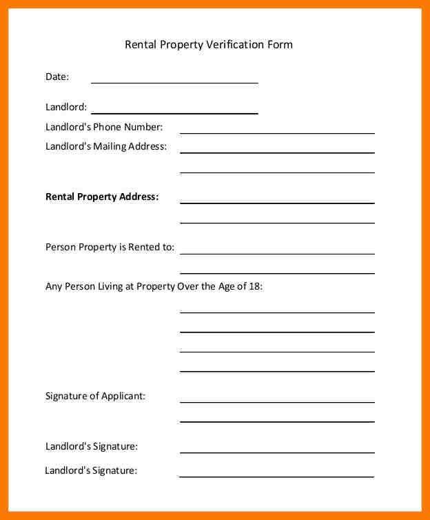9+ rent verification form | park-attendant